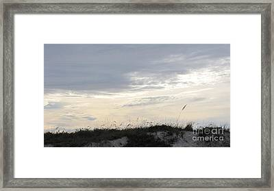 Dunes At Dusk II Framed Print by Gayle Melges