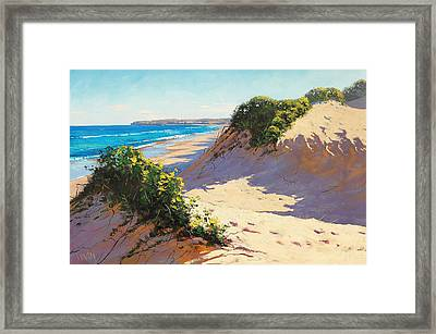 Dunes Central Coast Framed Print