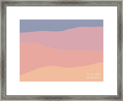 Dunes Forward Framed Print by Henry Manning