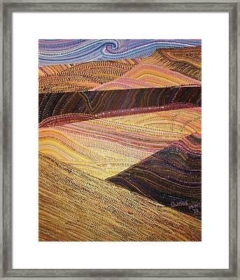 Dunes Framed Print by Maria VanderMolen