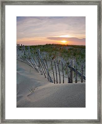 Dunes Of Cape Cod Framed Print by Patrick Downey