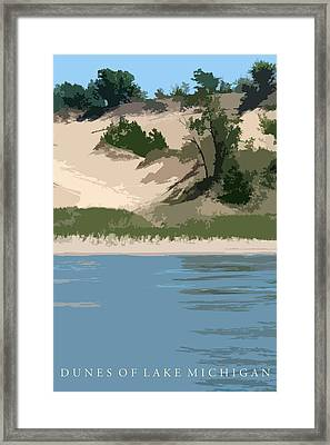 Dunes Of Lake Michigan Framed Print by Michelle Calkins