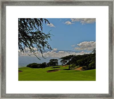Dunes Of Maui Lani 14th Fairway Framed Print