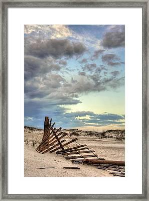 Dunes Of Navarre Beach Framed Print