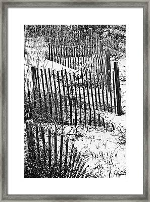 Dunes Of Tybee Island Framed Print