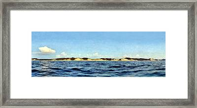 Dunes Panorama Framed Print by Michelle Calkins