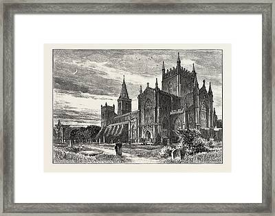 Dunfermline Is A Town And Former Royal Burgh In Fife Framed Print by Scottish School