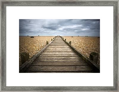 Dungeness Beach Walkway Framed Print