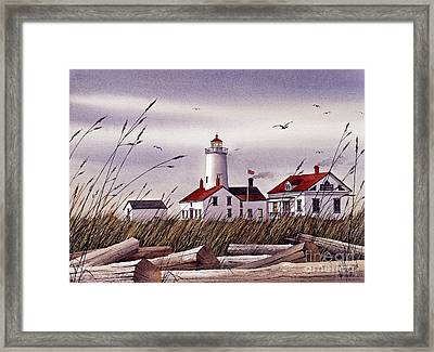 Dungeness Lighthouse Framed Print by James Williamson
