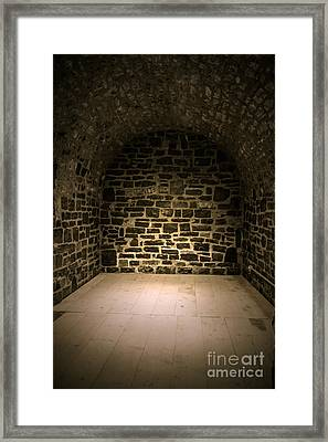 Dungeon Framed Print by Edward Fielding