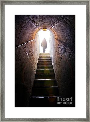 Dungeon Exit Framed Print by Carlos Caetano