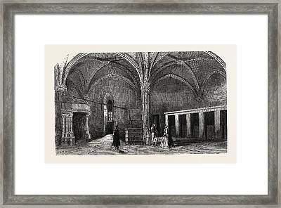 Dungeon Of Vincennes Hall Of Cardinals Framed Print by Litz Collection