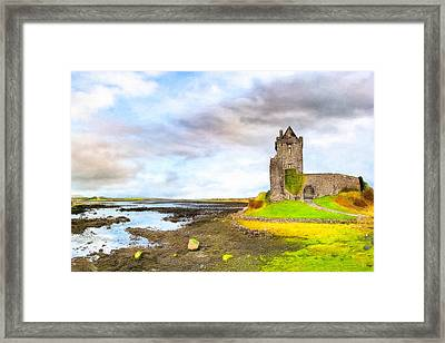 Dunguaire Castle In County Galway Ireland Framed Print by Mark E Tisdale