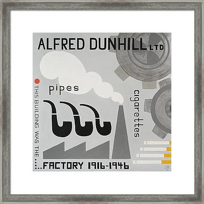 Dunhill Factory Framed Print by Carolyn Hubbard-Ford
