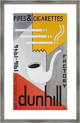 Dunhill Pipes & Cigarettes, 2013 Acrylic On Canvas Framed Print by Carolyn Hubbard-Ford