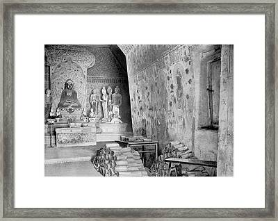 Dunhuang Library Cave Framed Print by British Library