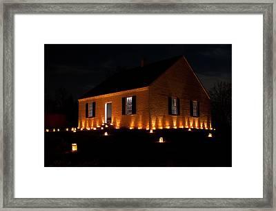 Dunker Church Illumination Framed Print by Don Johnson