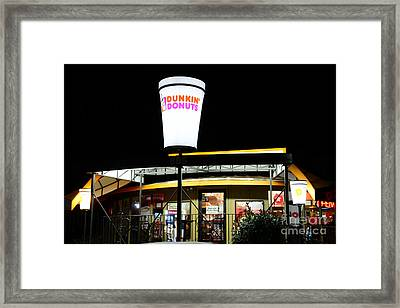 Dunkin Donuts Framed Print by Paul Ward