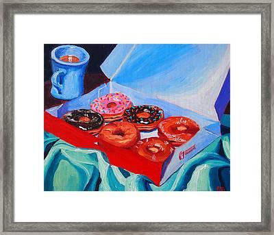 Dunkin Donuts Framed Print by Sean Boyce