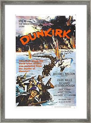 Dunkirk, Us Poster, John Mills Front Framed Print by Everett