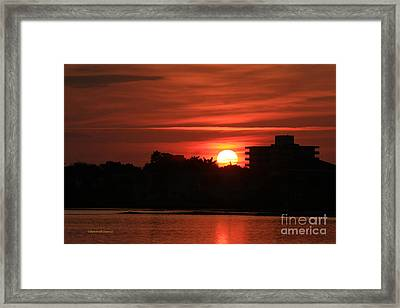 Dunlawton Sunrise Framed Print by Deborah Benoit