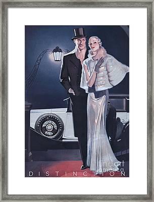 Dunlop 1933 1930s Uk Tyres Mens Womens Framed Print
