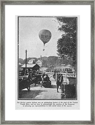 Dunlop Captive Hot Air Balloon Framed Print by British Library