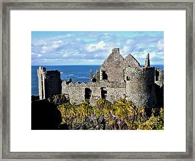 Dunluce Castle Framed Print by Nina Ficur Feenan