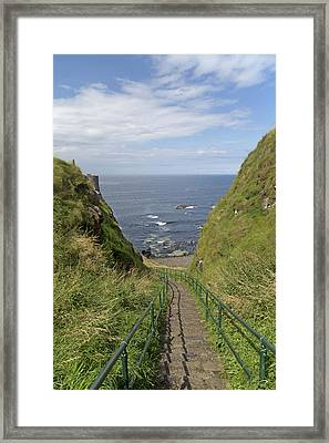Dunluce Staircase Ireland Framed Print by Betsy Knapp