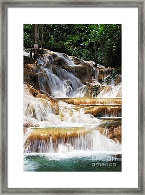 Dunn Falls Framed Print