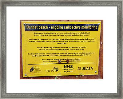Dunnet Beach Radiation Monitoring Framed Print by Public Health England