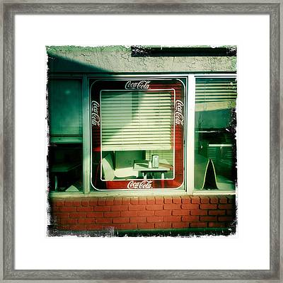 Dunnigan Cafe Framed Print by Suzanne Lorenz