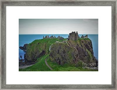 Dunnottar Castle Framed Print by Miryam  UrZa