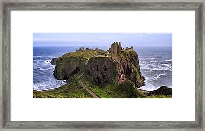 Dunnottar Castle Panorama Framed Print