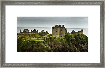 Framed Print featuring the photograph Dunnottar Castle Scotland by Sally Ross