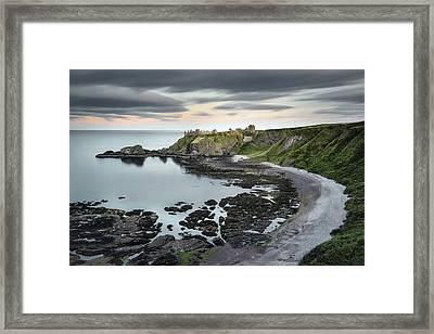 Dunnottar Twilight Framed Print by Dave Bowman