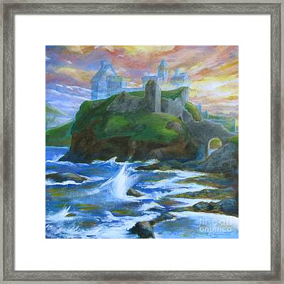 Dunscaith Castle - Shadows Of The Past Framed Print by Samantha Geernaert