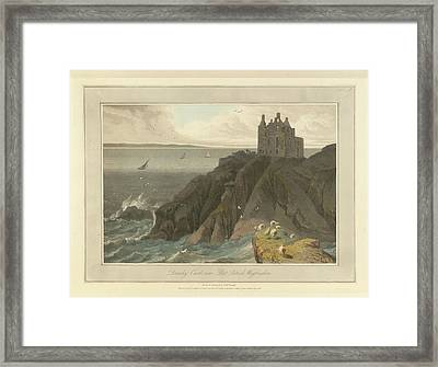 Dunsky Castle In Wigtonshire Framed Print by British Library