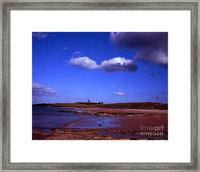 Dunstanburgh Castle From Beach At Embleton Bay Embleton Northumberland England Framed Print by Michael Walters