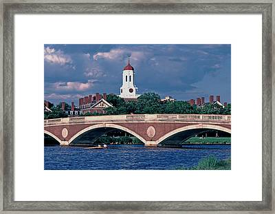 Weeks Bridge Charles River Framed Print