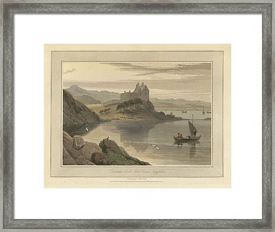 Dunstone Castle On Loch Crenan Framed Print by British Library