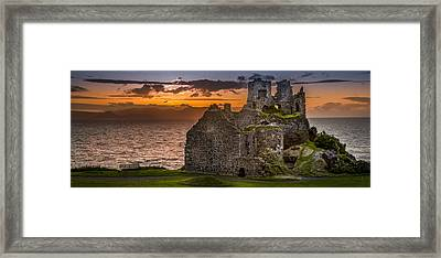 Dunure Castle Ayrshire Scotland Framed Print