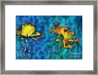 Duo Daisies - 01c2t5dp01e Framed Print by Variance Collections