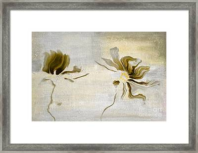 Duo Daisies - 45yt01 Framed Print