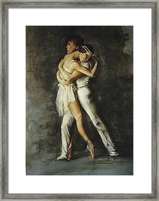 Duo Dance Framed Print by Podi Lawrence
