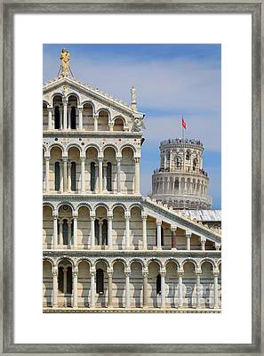 Duomo And Campanile Framed Print by Inge Johnsson
