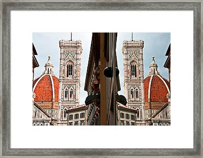 Duomo And Reflection Framed Print