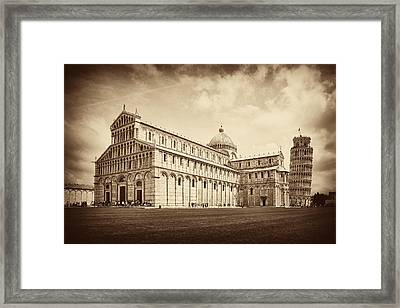 Framed Print featuring the photograph Duomo And Tower by Hugh Smith