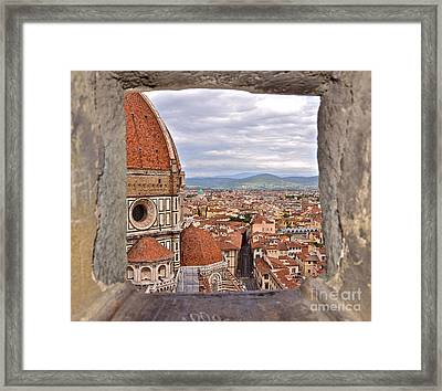 Duomo From Campanile Tower Framed Print