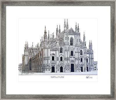 Duomo Of Milan Framed Print by Frederic Kohli